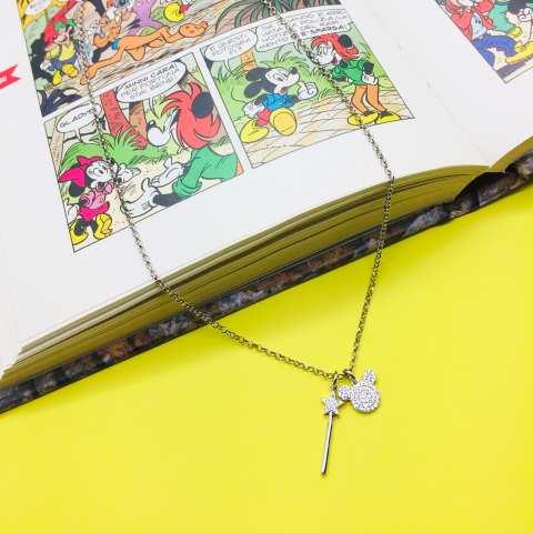 Collana I piccolini argento 925 Topolino Magico