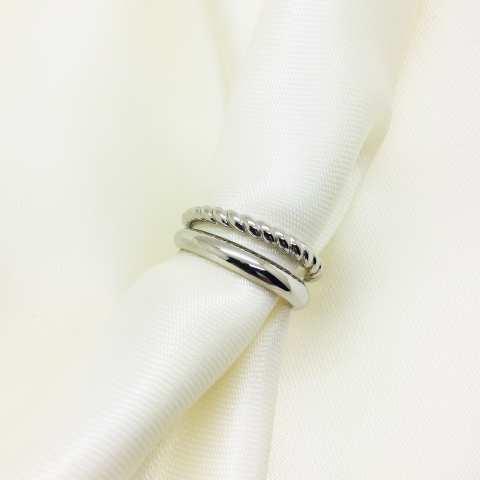 Anello regolabile doppio argento 925