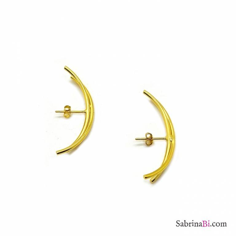 Mono ear cuff argento 925 oro Arco