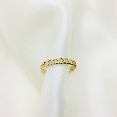 Anello argento 925 oro giallo fedina groumette