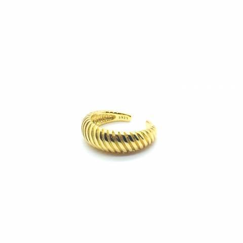 Anello regolabile Vintage argento 925 oro giallo