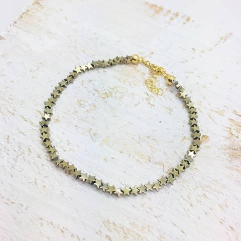 Bracciale micro stelle Pirite oro