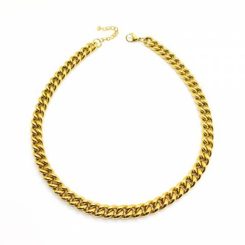 Collana catena groumette chunky oro
