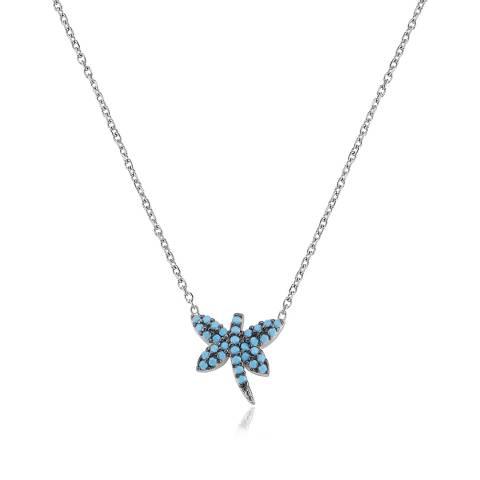 Collana girocollo argento 925 Libellula Turchesi