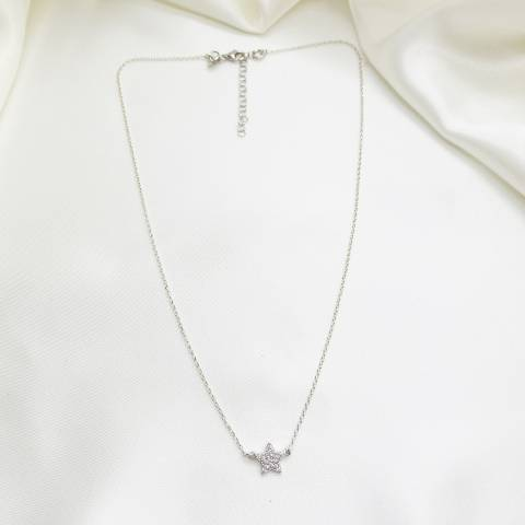 Collana girocollo argento 925 Stella Zirconi