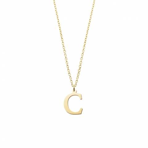Collana girocollo oro 9K lettera iniziale nome