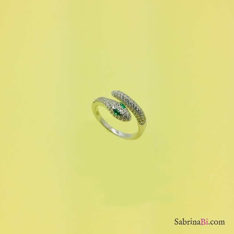 Anello argento 925 contrariè Serpente