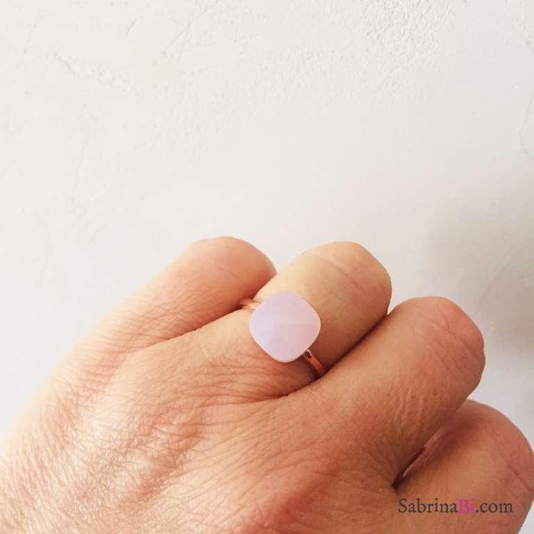 Anello regolabile argento 925 oro rosa Nudo rosa