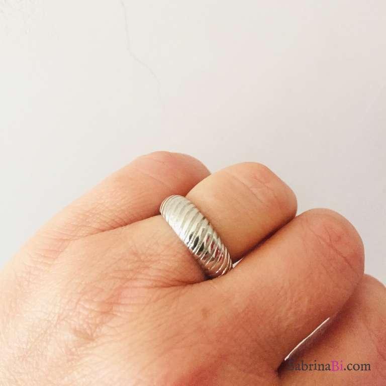 Anello regolabile Vintage argento 925