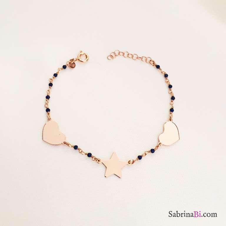 Bracciale argento 925 oro rosa Josephine