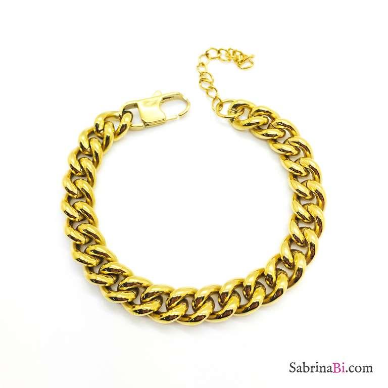 Bracciale catena groumette chunky oro