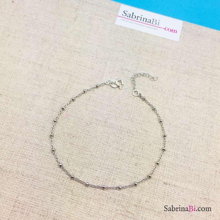 Cavigliera rosario argento 925
