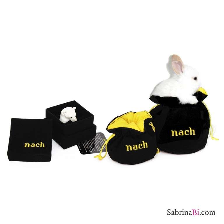 Collana lunga oro ciondolo Tre Formiche nere in porcellana e nappina