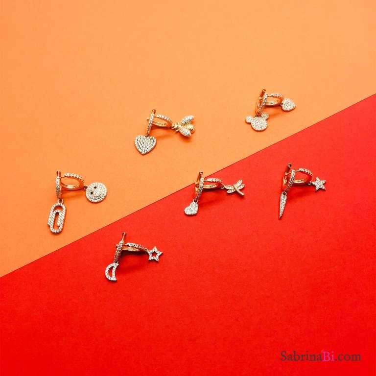 Mono hoop 1cm argento 925 oro rosa Come-vuoi-tu
