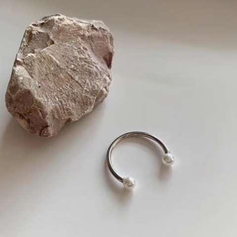 Anello open regolabile Perle