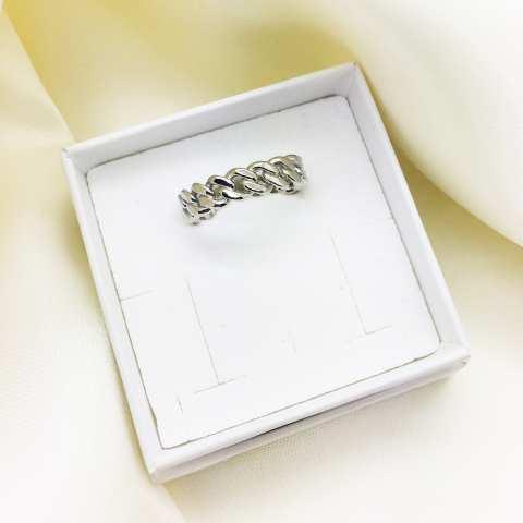 Anello regolabile Catena groumette argento 925