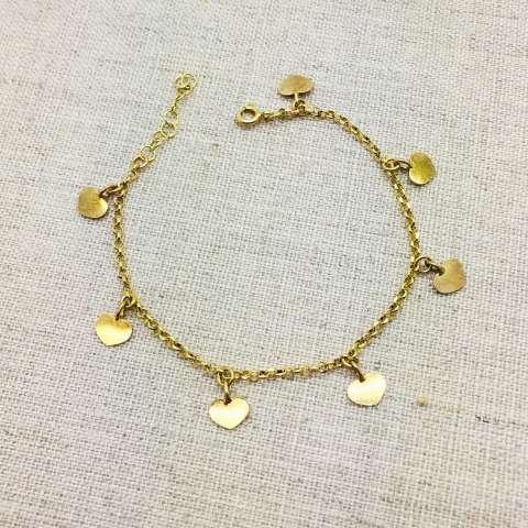 Bracciale argento 925 oro giallo cuori