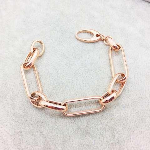 Bracciale argento 925 oro rosa Aida