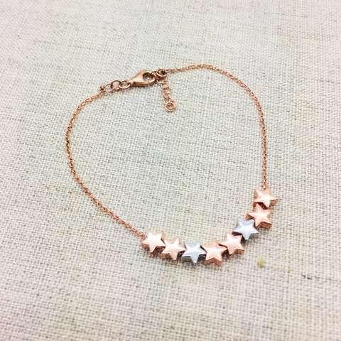 Bracciale argento 925 oro rosa Selena