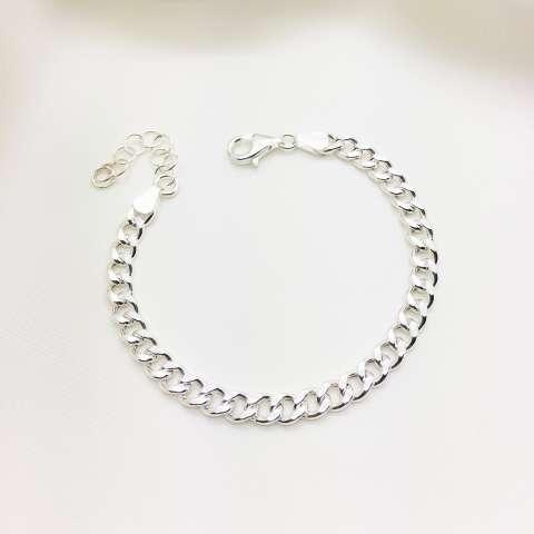 Bracciale catena groumette argento 925
