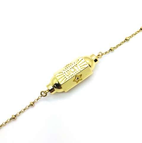 Bracciale rosario argento 925 oro giallo Locket Lucky