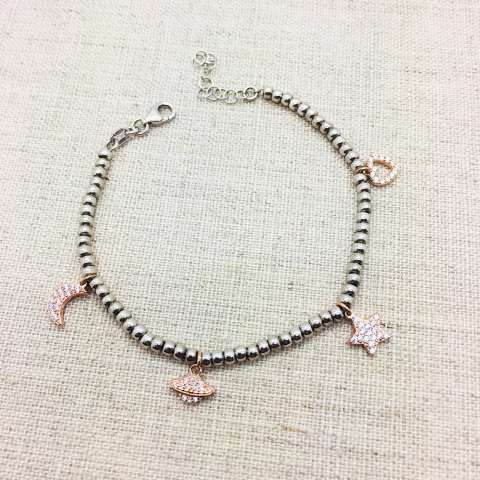Bracciale To the moon and back pepite argento 925