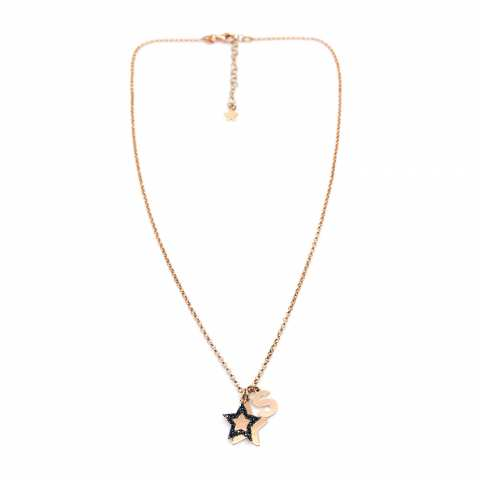 Collana argento 925 oro rosa Alice