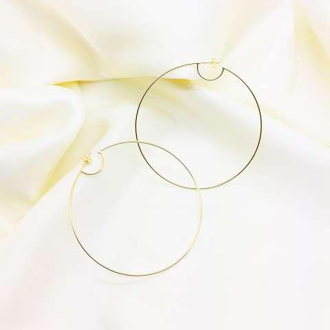 Orecchini a cerchio maxi argento 925 oro giallo